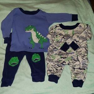 4/$24 - Carter's Dinosaur Pajamas